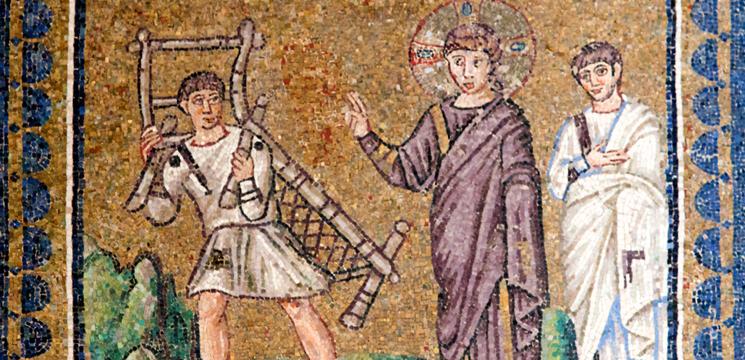 La guérison du paralytique, basilique Saint-Apollinaire Nuovo, Ravenne, Italie, VIème siècle© DR