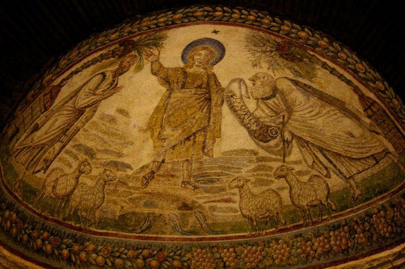 « Traditio Legis », Vème siècle, Mosaïque, Mausolée de Sainte-Constance, Rome
