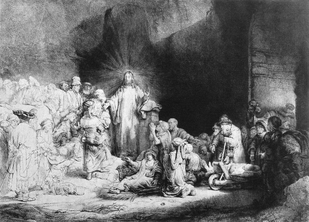Le petit enfant amené à Jésus, Harmenszoon van Rijn Rembrandt - 1647-1649 -  Rijksmuseum, Amsterdam