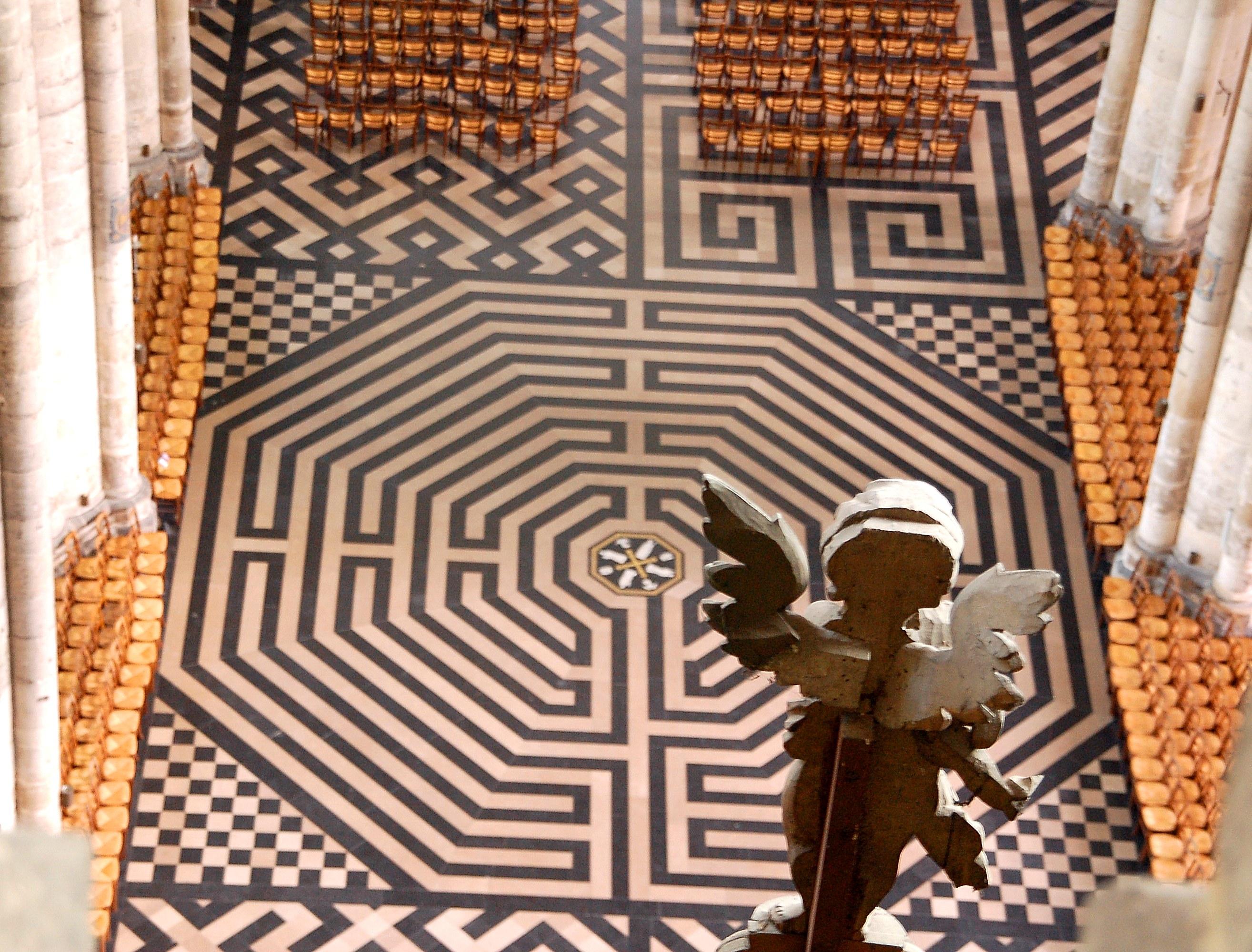 Labyrinthe - Cathédrale d'Amiens - © Samuel Crampon