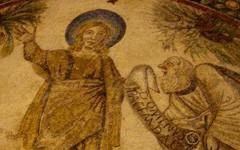 « Traditio Legis »,Vème siècle, Mosaïque, Mausolée de Sainte-Constance, Rome