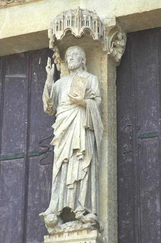 Le Beau Dieu, cathédrale d'Amiens, 13e © DR