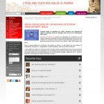 widget sur le site du diocèse de Paris